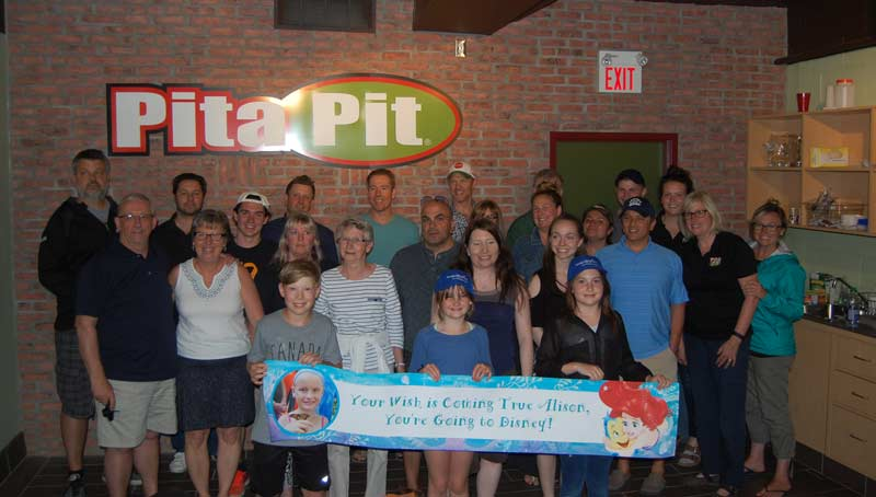 Pita Pit Canada Stores Unite to Realise Leukemia Survivor's Wish