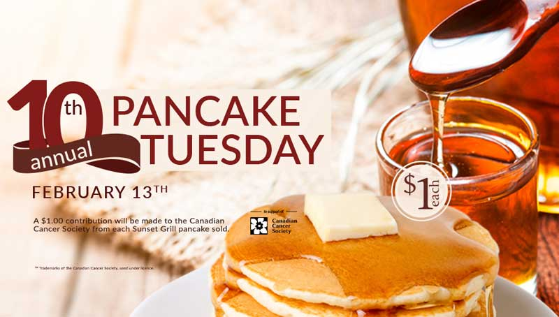 Sunset Grill Continues to Fuel the Fight Against Cancer with 10th Annual Pancake Tuesday Event
