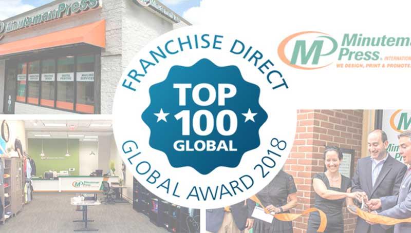 Minuteman Press International Climbs Franchise Direct 2018 Top 100 Global Franchises List